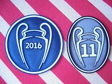 Parches Campeón UCL Champions 2016 + 11 copas para camiseta Real Madrid