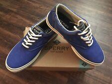 NIB Mens Sperry Halyard CVO SAlt Washed Blue Sneaker Casual Shoe Sz 8.5