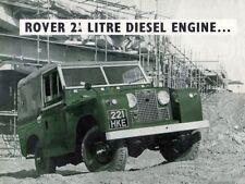 LAND ROVER 1964 SERIES-IIA '88' RETRO POSTER BROCHURE CLASSIC ADVERT A3