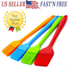 "2/5PCS SET 8"" Silicone Basting Pastry Barbecue oil Brush for BBQ Kitchen"