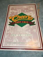 VINTAGE/ RARE CHEERS BOSTON 1982 Last Call May 20, 1993  TV Poster
