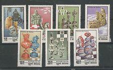 (W0845) GUINEA-BISSAU 1983, CHESS, MI 674/80, SET, MNH/UM, SEE SCAN