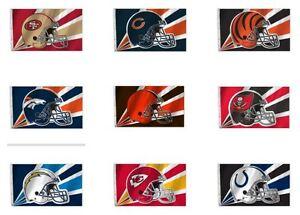 NFL 3' by 5' Team Flag 1 Sided Helmet Image By Fremont Die Select Team Below