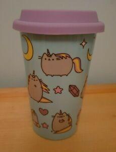 Official Pusheen the Cat Unicorn Ceramic Travel Mug Coffee Cup Pusheenicorn