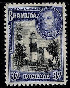 BERMUDA GVI SG114a, 3d black & deep blue, M MINT.