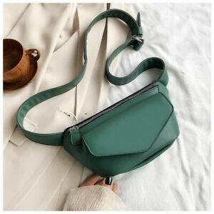 Women Fanny Pack Faux Leather Waist Bag Belt Chest Shoulder Crossbody Fashion