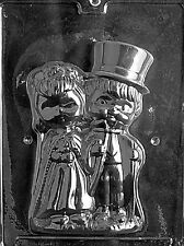 W041A & B 2Pc. Bride and Groom Chocolate Candy Soap Mold with Instructions