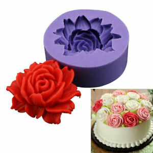 3D Rose Flower Silicone Fondant Cake Mold Chocolate Candy Baking Mould Soap Tool