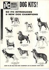 1959 PAPER AD 2 PG ITC Modelcraft Model Dog Champion Boxer Poodle Collie Bulldog