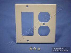 Leviton Decora Light Almond GFCI & Receptacle Wallplate Outlet GFI Cover 80455-T