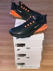 New Nike Air Max 270 Black Total Orange Men's Size 8-10.5 Sneakers DC1938-001