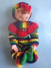 Vintage Crochet Christmas Elf Doll