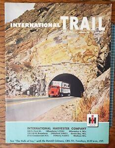 INTERNATIONAL HARVESTER TRAIL MAGAZINE JULY 1955 PICKUP TRUCK HEAVY DUTY DEALER