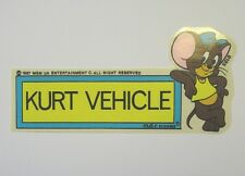 VECCHIO ADESIVO / Old Sticker CARTOON TOM & JERRY (cm 15x7)