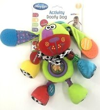 "Playgro Activity Doofy Dog Baby Activity 11"" Ages 3 Months + Sound Sight Touch"