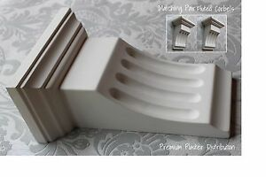 Plaster Corbels Large Fluted 270mm x 190mm x 110mm Handmade UK (X2)