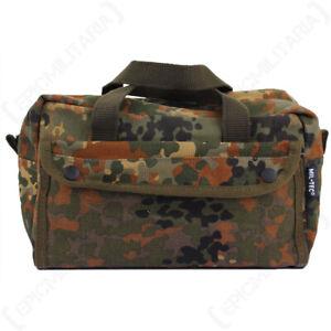 Small Flecktarn Camo Tool Bag Toiletries Gym Holdall Overnight Wash Bag