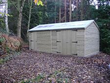 20 x 10 HEAVY DUTY EXTRA HEIGHT SHED 22mm TANALISED LOGLAP WORKSHOP