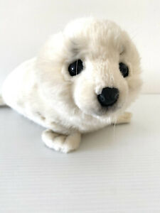 HANSA Stuffed Baby Seal Earless Animal Real Plush Doll Baby From Taronga Zoo