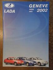 LADA RANGE orig 2002 UK Mkt Media Info Brochure in French - 110 111 112 Niva 4x4