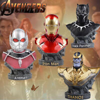 The Avengers Infinity War Iron Man Black Panther Thanos Bust Statue Table Figure