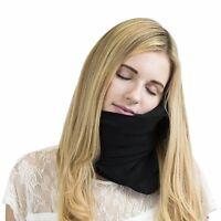 Trtl Pillow- Super Soft Neck Support Travel Pillow - Black
