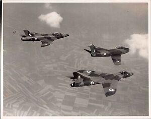 HAWKER HUNTER F4 & SABRE F4 FORMATION LARGE ORIGINAL PRESS PHOTO RAF 112 SQN