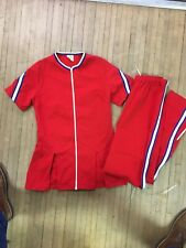 Vintage Rare 60s Russell Athletic Gold Tag Womens Cheer Warmup Suit Nylon Medium
