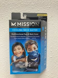 Mission Cooling Neck Gaiter - Youth Ages 8+ Multifunctional One Size Matrix Camo