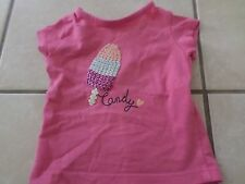 Tee shirt rose manches courtes col rond fille 1 mois kiabi §§!!§§