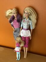 Barbie Doll Lot-2 Barbies 1 Chelsea 1998