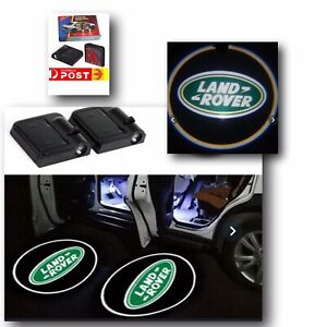 2pc Wireless Magnetic Car Door Logo Light Projector LED Welcome Light Land Rover