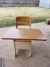 Vintage Kids Child's School Desk Original by The Crusader Brand pre-clasic