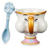 Disney Beauty and the Beast Chip Teacup Mug and Spoon Set