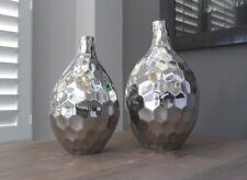 Modern Honeycomb Nickel Finished Decorative Tall Vase - Costal Cove Exclusive