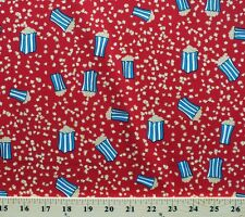 Hoffman Daphne's Circus Popcorn Red Cotton Fabric Print by the Yard D586.06