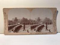 Londres Desfile Militar UK Foto Estéreo Vintage Citrato