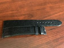 Tiffany & Co Original 18mm Long Genuine Black Lizard Watch Strap OEM