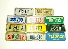 VINTAGE LOT OF 11 1980 POST CEREAL MINI BIKE BICYCLE LICENSE PLATES STATES NH CO
