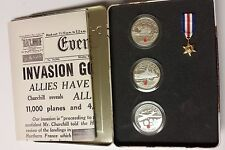 2004 Canada 60th Anniversary D-Day Landings Sterling Silver 3 coins set (NO TAX)