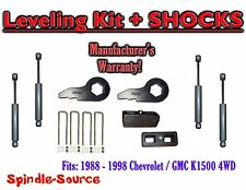 "88 - 98 Chevy GMC 1500 Torsion Level 3"" FORGED Torsion KEYS + 3"" Blocks + SHOCKS"