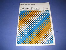 Brother How to use your Kl-115 Knit Leader Owner'S Manual User'S Guide 3C3