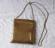 DOROTHY PERKINS GOLD METAL CHAIN MAIL SHOULDER EVENING BAG SNAKE CHAIN STRAP
