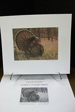1984 Wisconsin Turkey Stamp Print - AP Ed.(First of State) by artist Eric Weaver