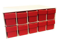 New & Improved Card Penthouse House Storage with 10 Vertical 802 Red Boxes