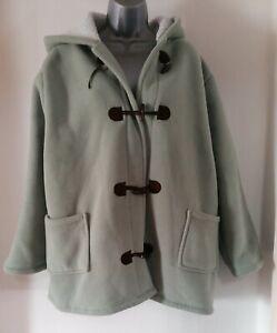 Ladies Anthology Mint Green Fleece Hooded Coat Size 24/26 Plus Size