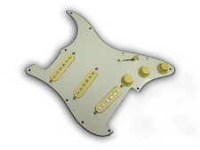 Dragonfire Prewired-Loaded Floyd Rose Strat Pickguard SSS, Aged White w/ Cream