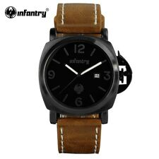 Montre Militaire Top Marque Infantry Homme Bracelet Cuir Date US ARMY PROMO