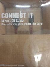RadioShack 2604495 Braided Flat 4 Foot Micro USB Cable (IL/PL1-3883-2604495-UG)
