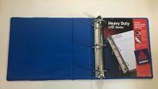 "Set of 3: Avery Heavy-Duty Binder EZD Rings 8.5""  x 11"" Blue 3"" Capacity"